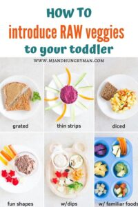 introducing raw vegetables to toddlers