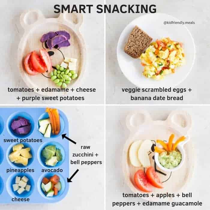 four examples of smart snacks
