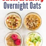 sweet and savory overnight oats or quinoa
