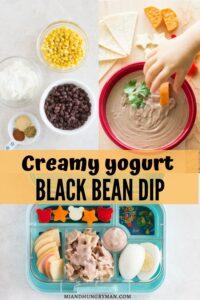creamy Greek yogurt black bean dip