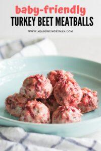 kid-friendly turkey beet meatballs