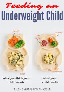 feeding an underweight child