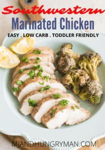 southwestern yogurt marinated chicken