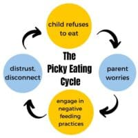 a graphic showing the picky eating cycle