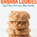 four carrot walnut oatmeal cookies stacked