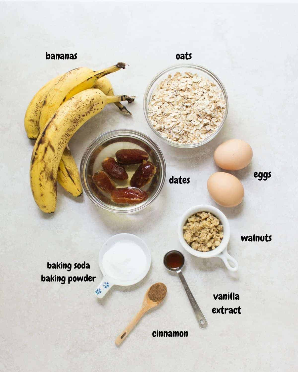all the ingredients laid out on a white background