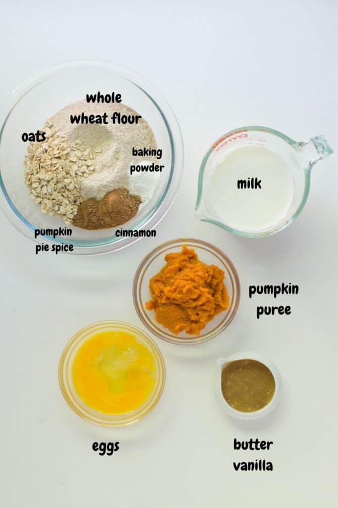 all the ingredients laid on a white background
