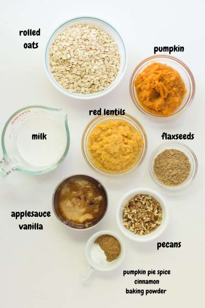 all the ingredients laid out on a white background and labeled